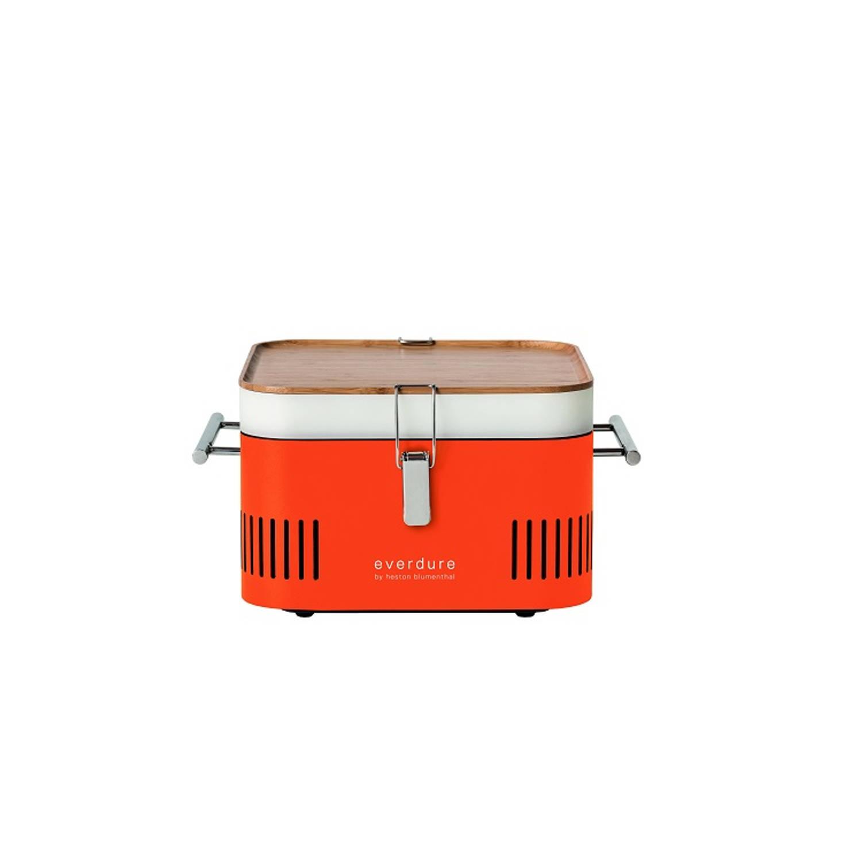 Houtskoolbarbecue Cube Oranje Everdure