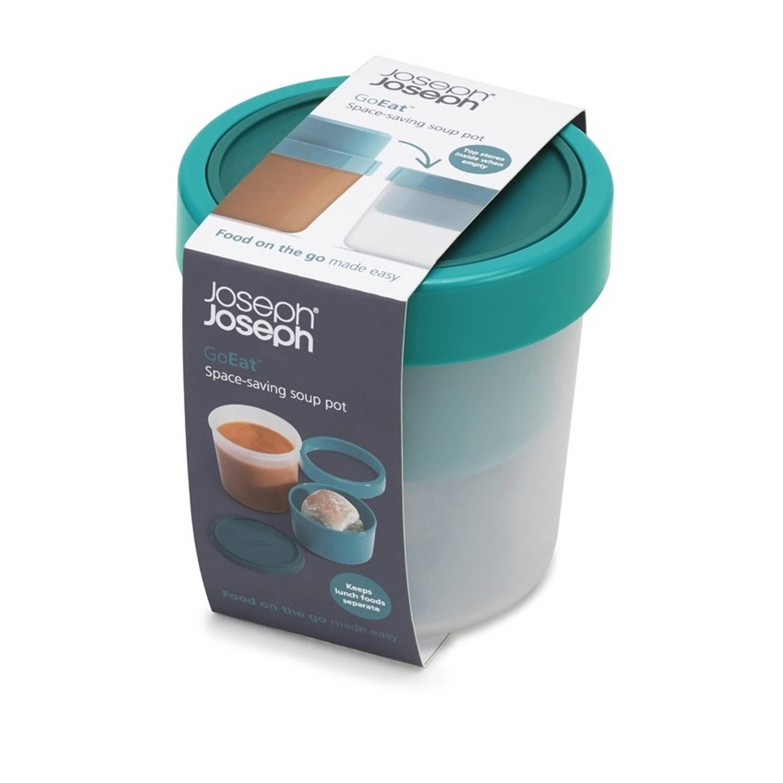 GoEat compacte soepbox 2 in 1, Blauw - Joseph Joseph