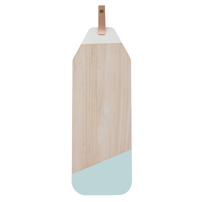 Korting Tapasplank Limbo Rubberhout Met Leer Pastel Mint Tak Design