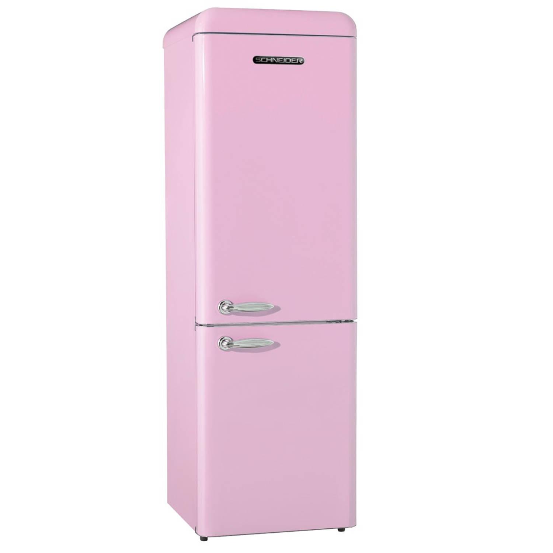schneider sl 250 sp cb a retro koelkast roze blokker. Black Bedroom Furniture Sets. Home Design Ideas