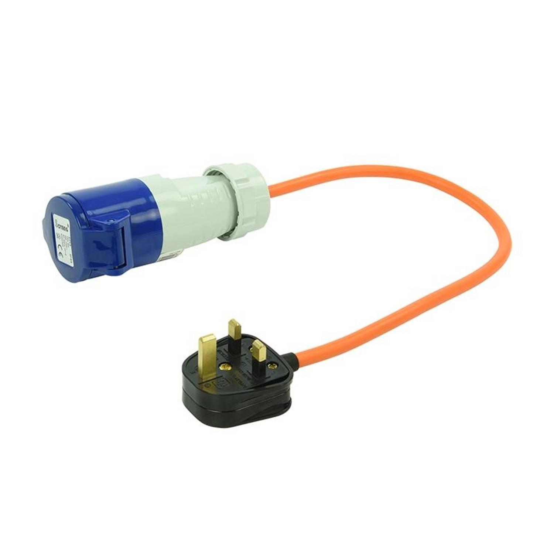 ProPlus verloopkabel van UK-stekker naar CEE 40 cm 16A / 230 V