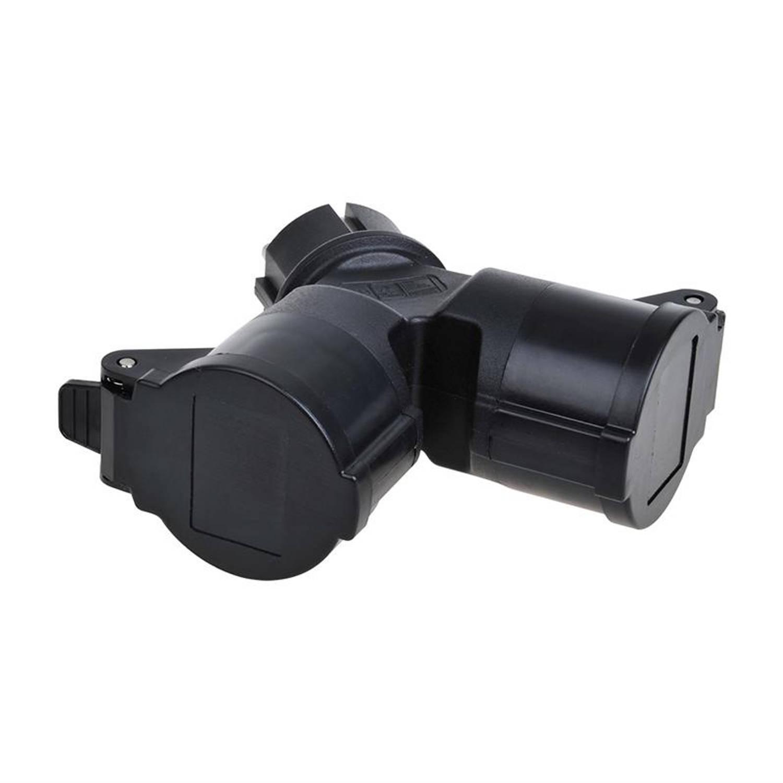 ProPlus Schuko duo-splitter 16A zwart