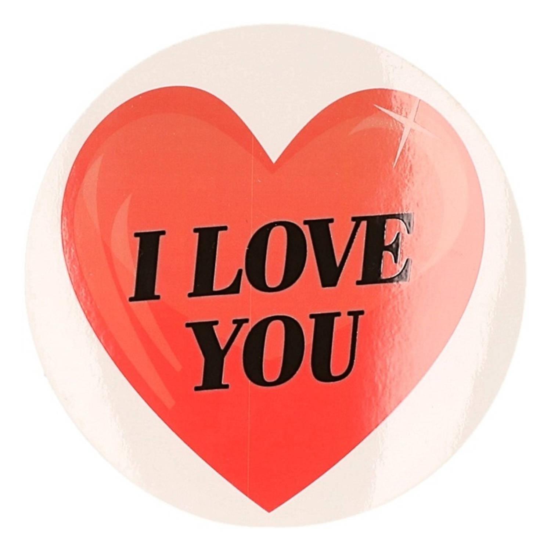 Korting Cadeausticker I Love You Hart 9 Cm