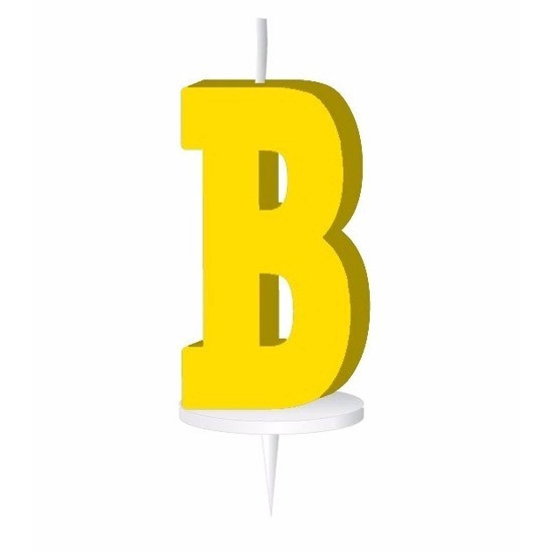 Korting Geel Letterkaarsje Met Houder B