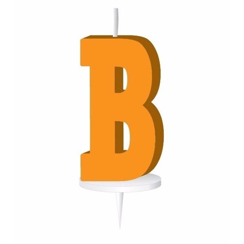 Korting Oranje Letterkaarsje Met Houder B