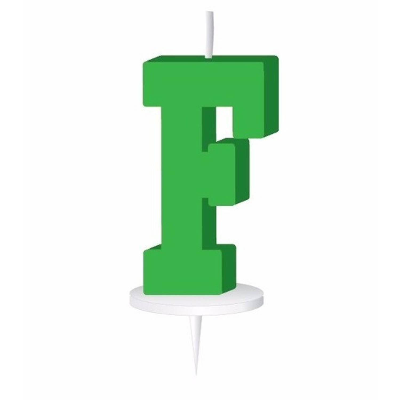 Korting Groen Letterkaarsje Met Houder F