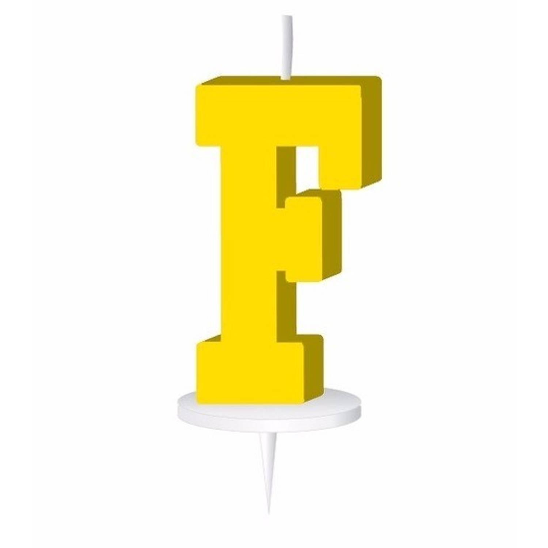Korting Geel Letterkaarsje Met Houder F