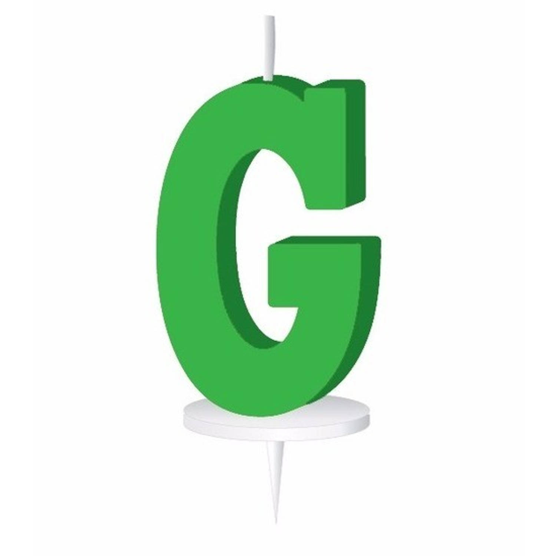 Korting Groen Letterkaarsje Met Houder G