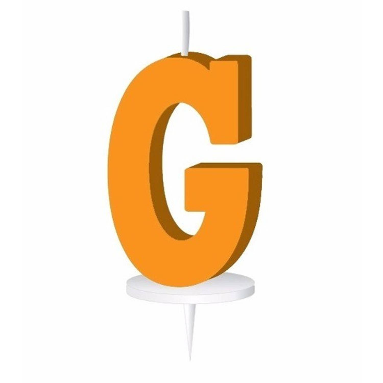 Korting Oranje Letterkaarsje Met Houder G