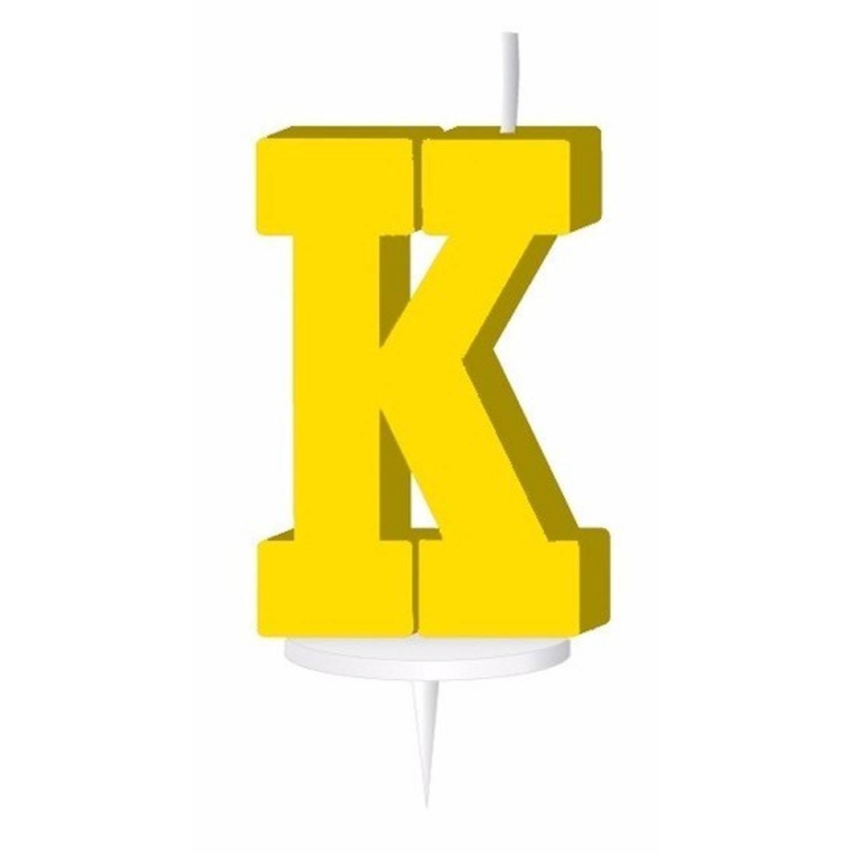 Korting Geel Letterkaarsje Met Houder K