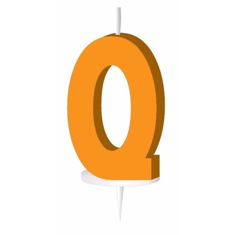 Korting Oranje Letterkaarsje Met Houder Q