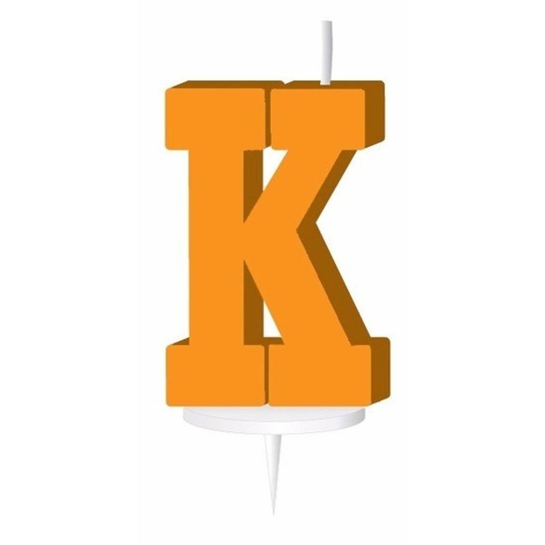 Korting Oranje Letterkaarsje Met Houder K