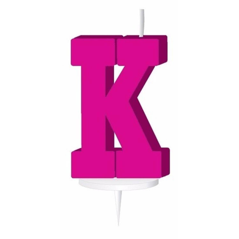Korting Roze Letterkaarsje Met Houder K