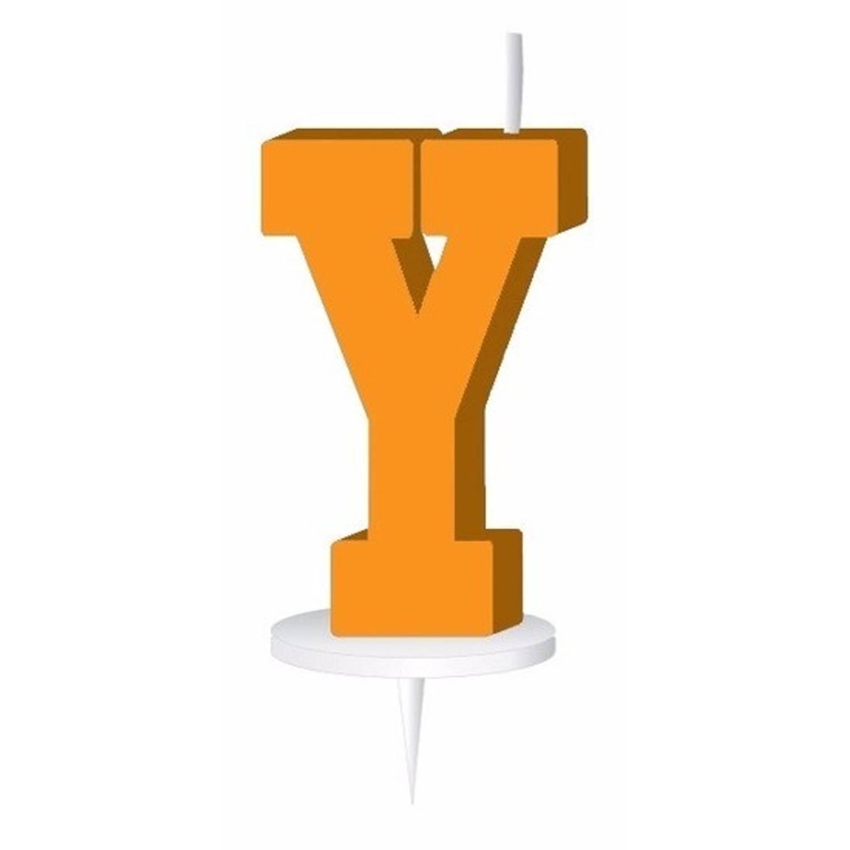 Korting Oranje Letterkaarsje Met Houder Y