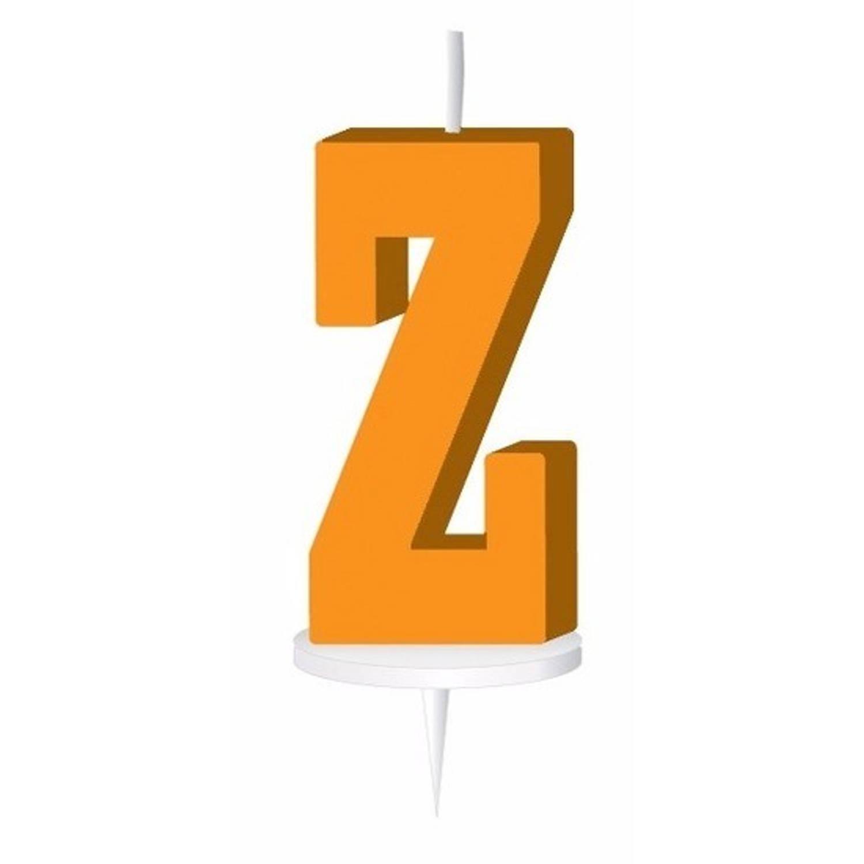 Korting Oranje Letterkaarsje Met Houder Z
