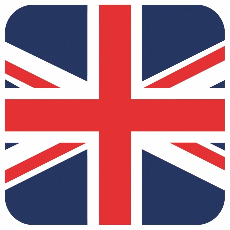 Korting 15x Bierviltjes Groot Brittannie Vlag Vierkant Bierfiltjes