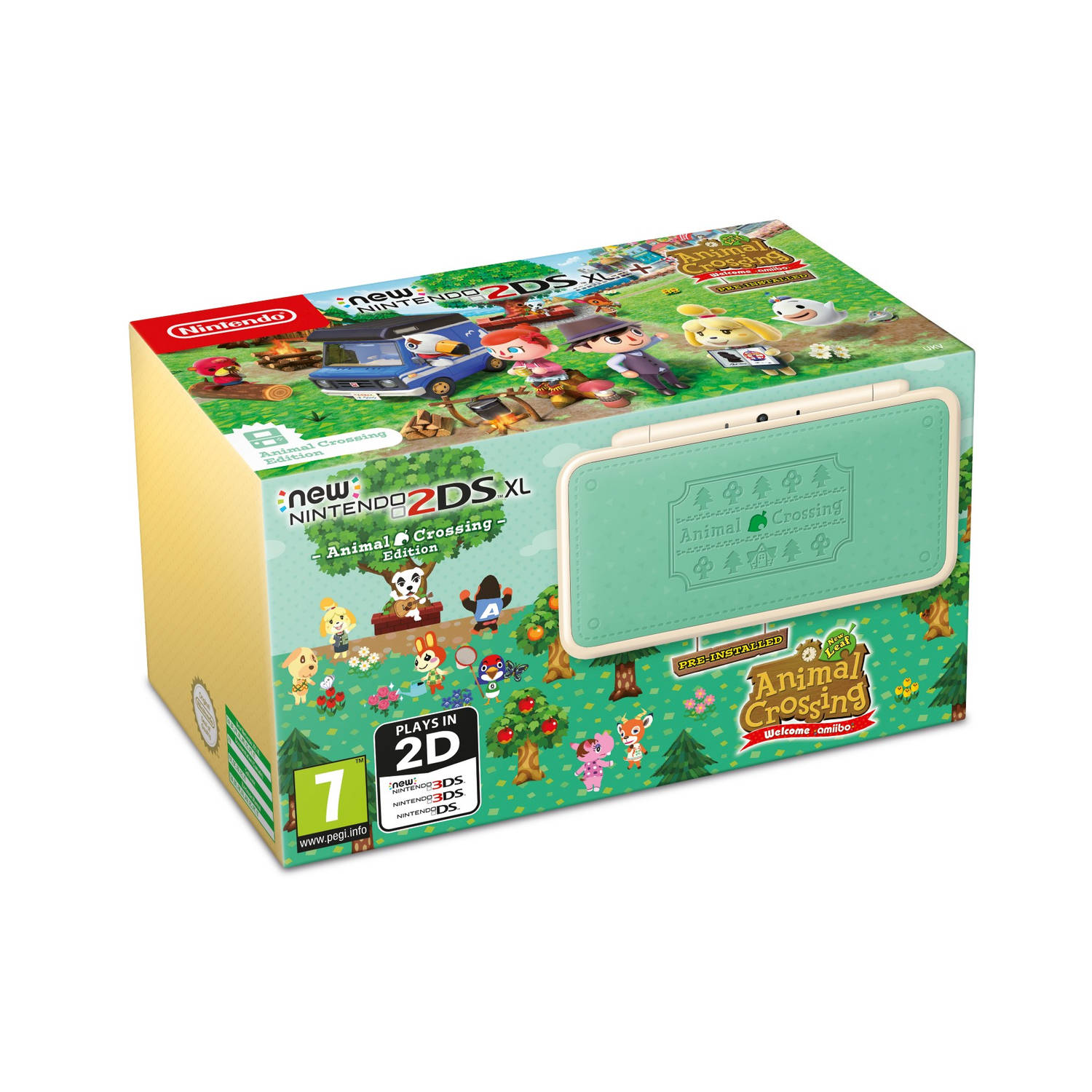 New Nintendo 2DS XL + Animal Crossing New Leaf