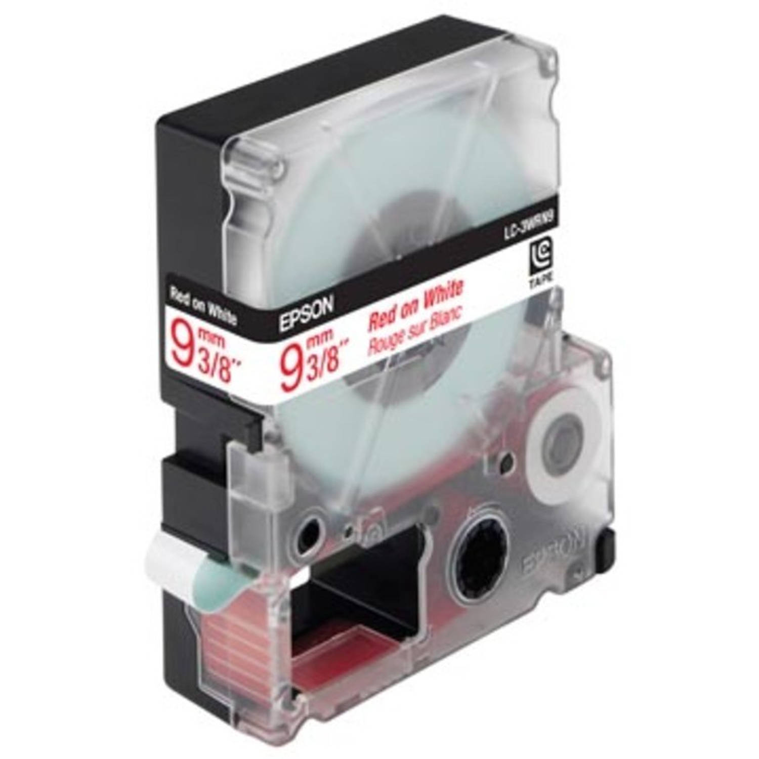 Epson tape 9 mm, rood op wit