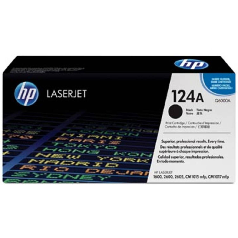 HP Tonercartridge zwart 124A - 2500 pagina's - Q6000A