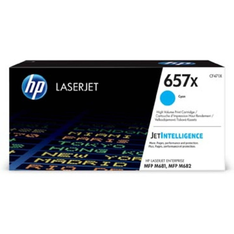 HP toner 657X cyaan, 23.000 pagina's - OEM: CF471X