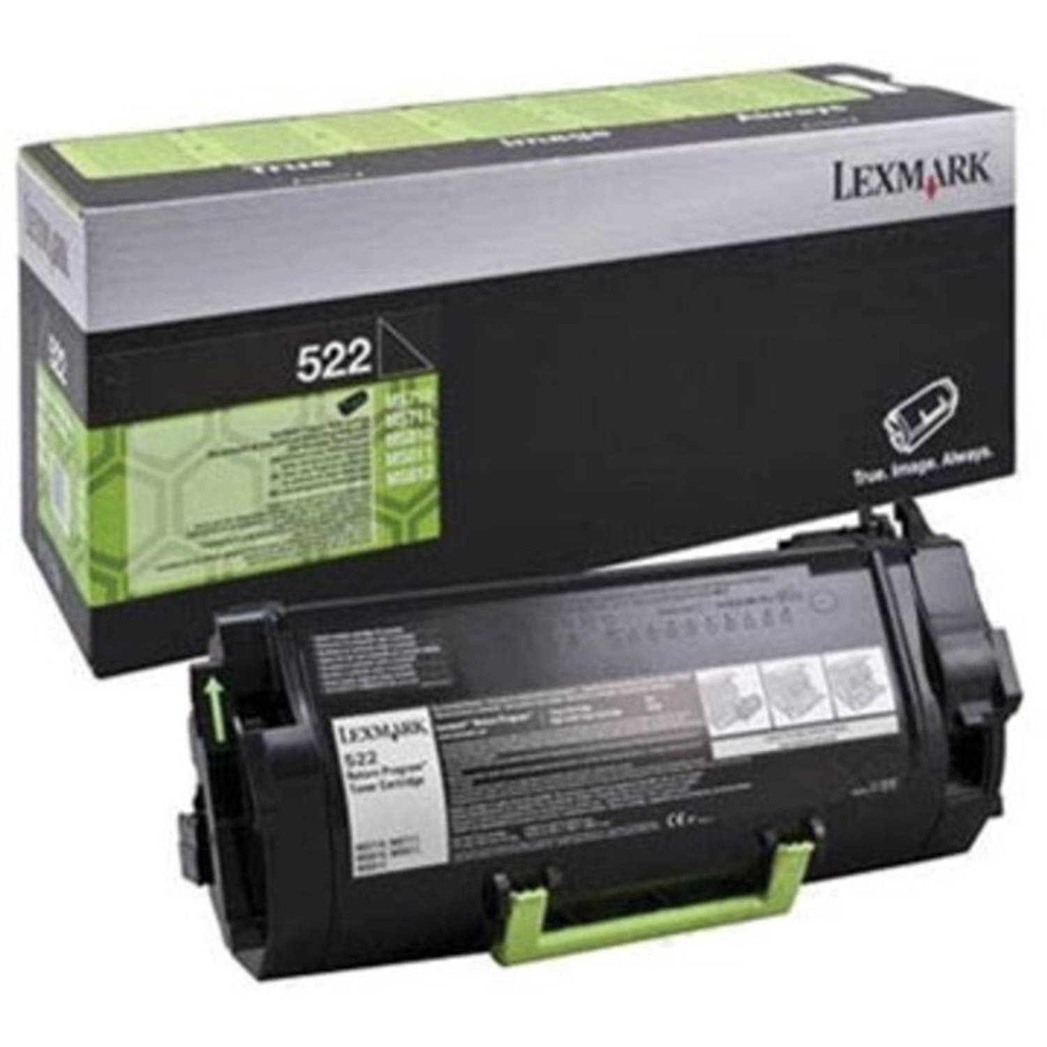 Lexmark Toner Kit zwart return program 522 - 6000 pagina's - 52D2000