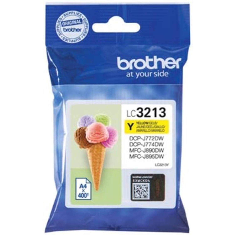 Brother inktcartridge geel, LC-3213Y