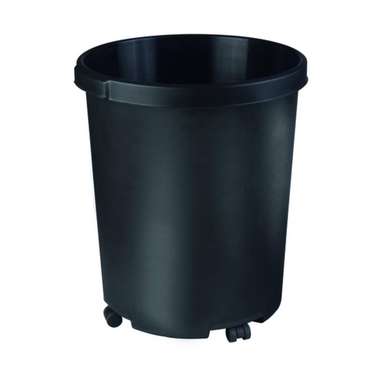 Afvalbak Rond 50 liter, Zwart
