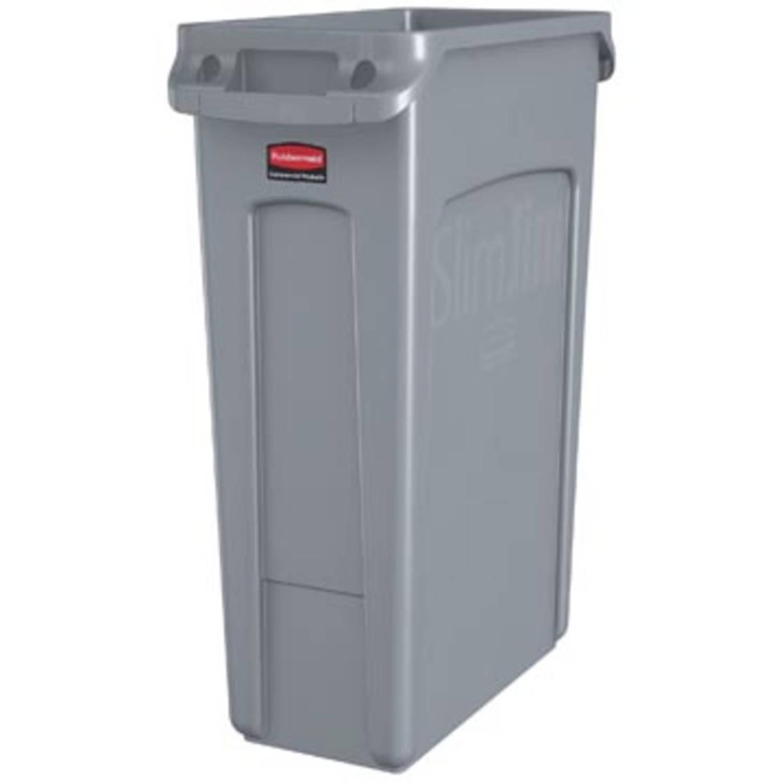 Rubbermaid Afvalcontainer Slim Jim, 87 Liter, Grijs