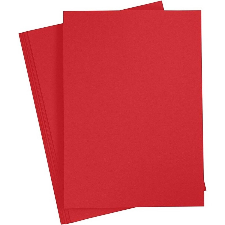 Korting A4 Hobby Karton Rood 180 Grams 1x