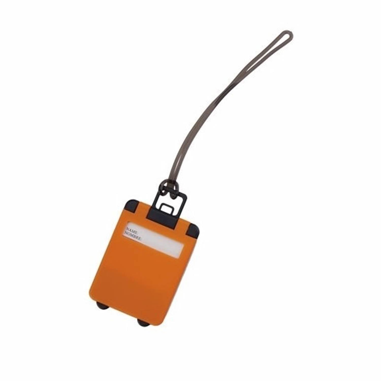 Korting Kofferlabel Oranje 9,5 Cm