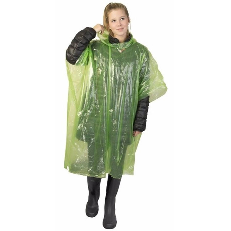 Korting Wegwerp Regenponcho Groen Voor Volwassenen