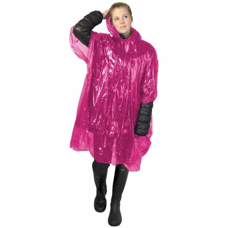 Korting Wegwerp Regenponcho Roze Voor Volwassenen