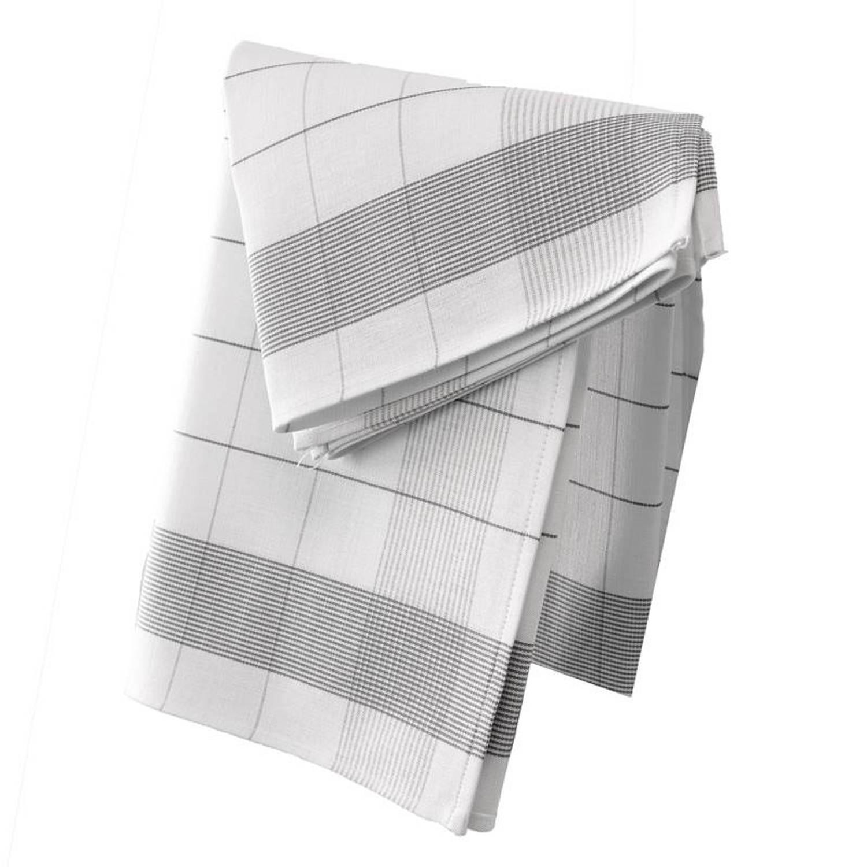 De Witte Lietaer Mixte theedoek (set van 2) - 50% katoen - 50% linnen - Theedoek (68x68 cm) - Set van 2 - Grijs