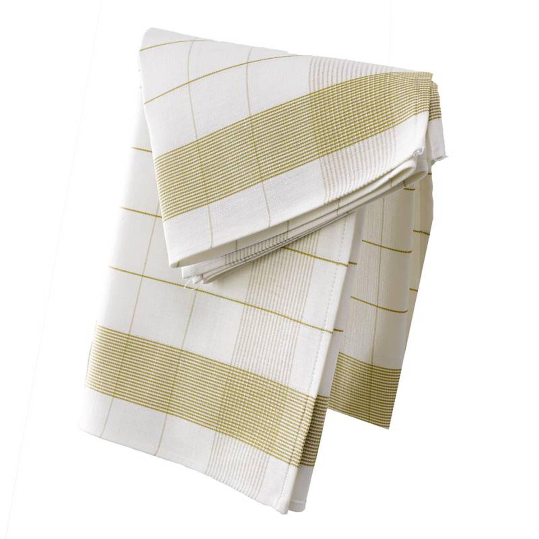 De Witte Lietaer Mixte theedoek (set van 2) - 50% katoen - 50% linnen - Theedoek (68x68 cm) - Set van 2 - Groen