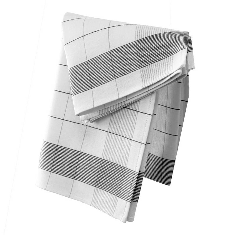 De Witte Lietaer Mixte theedoek (set van 2) - 50% katoen - 50% linnen - Theedoek (68x68 cm) - Set van 2 - Zwart