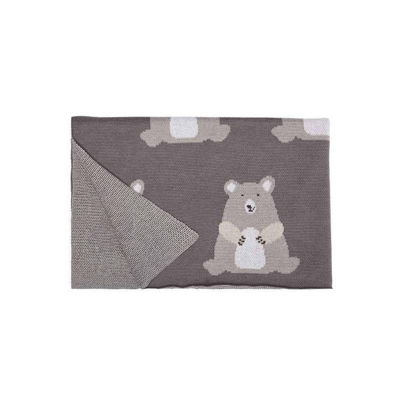Covers & Co Counting Stars plaid - 100% katoen - 80x100 cm - Grijs