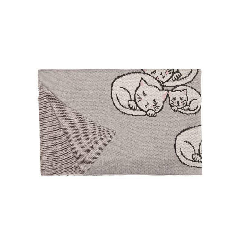 Covers & Co Dreaming Stars plaid - 100% katoen - 80x100 cm - Grijs