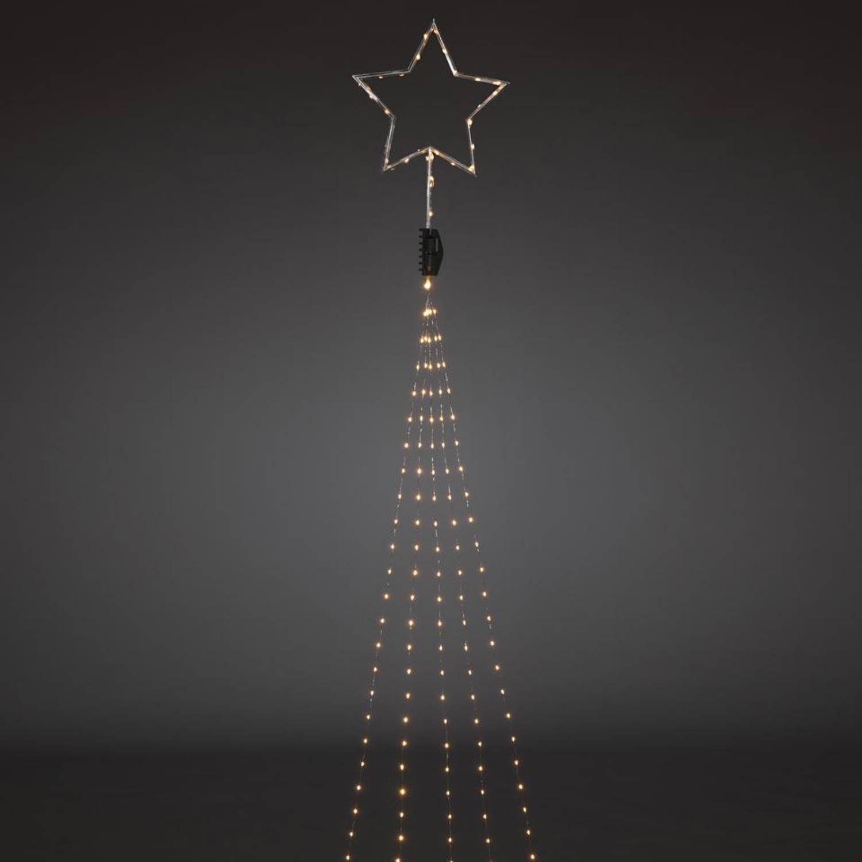 Konstsmide LED kerstverlichting boommantel met ster - 2,35 meter