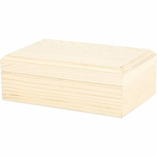 Houten sieradendoos/dozen/kistjes 14 x 9 x 5 cm - opberg kistjes
