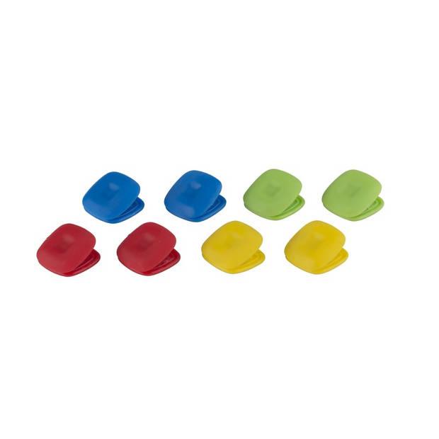 Magnetische memoclips 8x stuks magneten voor boodschappen memo's op de koelkast