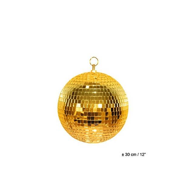 Disco spiegel bal goud 30 cm - Themafeest - Decoratie