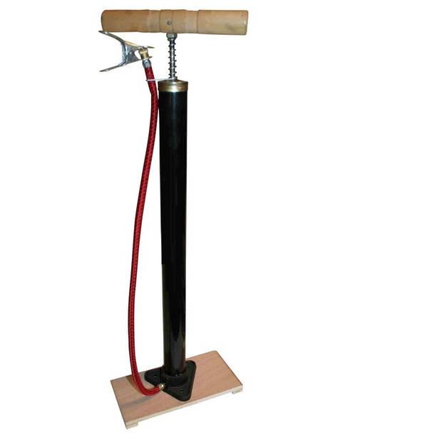 Klassieke fietspomp met houten plank - 5 bar
