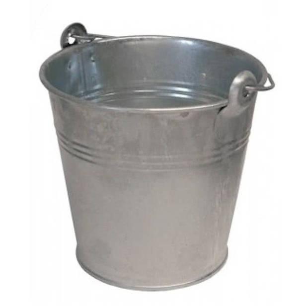 Emmer / teil van zink met handvat - 12 liter - metaal