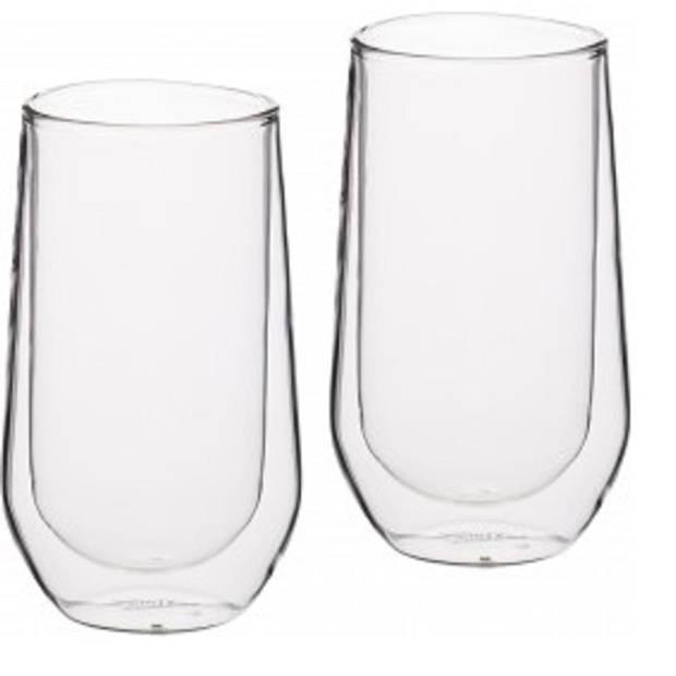 Set van 2 Hoge Dubbelwandige Glazen - 380ml - KitchenCraft Le'Xpress