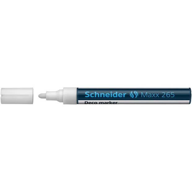 Krijtmarker Schneider Maxx 265 wit