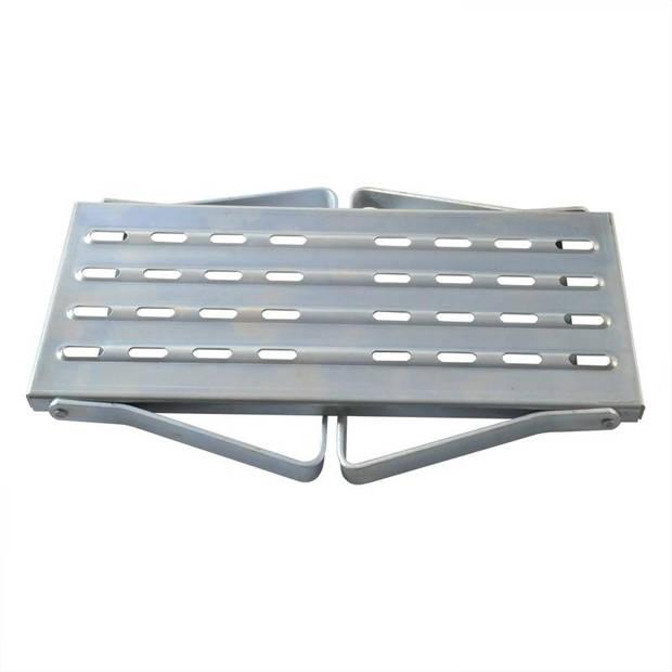 ProPlus opstapje 1 trede opvouwbaar staal zilver