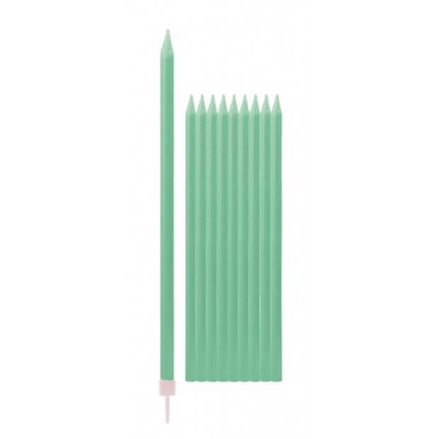 Mint groene kaarsen 15,5 cm