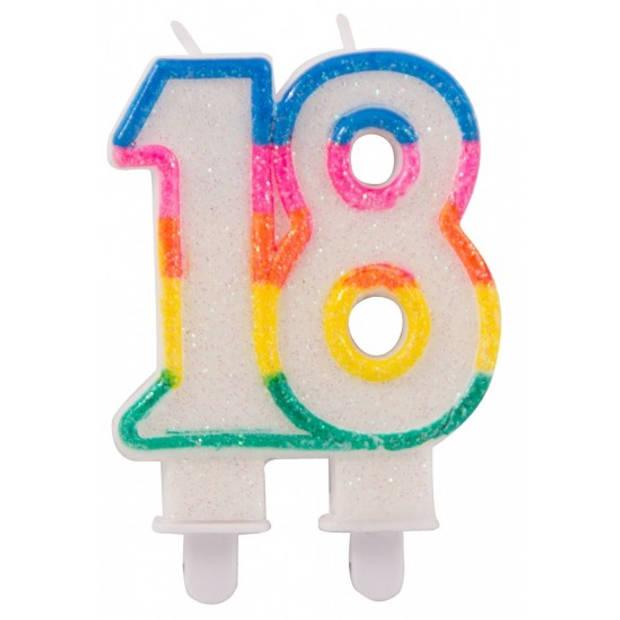 Glitter cijferkaars 18 jaar