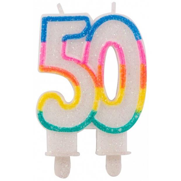 Glitter cijferkaars 50 jaar