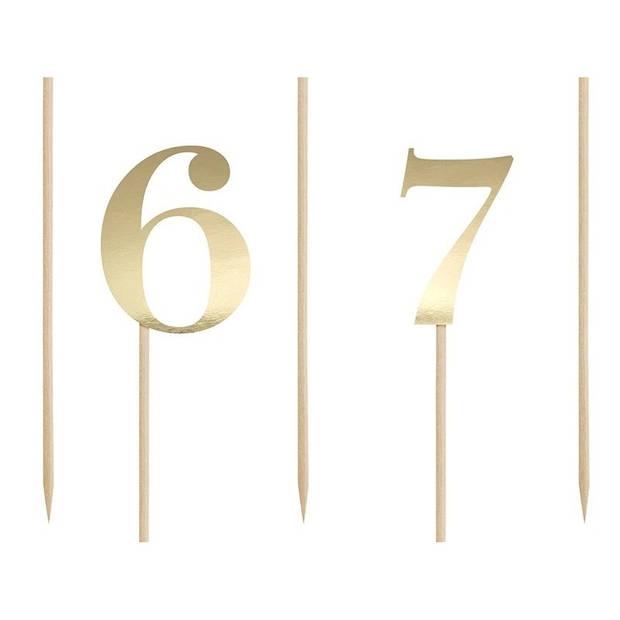 Leeftijd versiering gouden taart cijfers